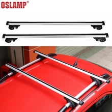 Oslamp Universal 120CM Adjustable Car Roof Rack Cross Bars Crossbars with Anti-theft Lock 68kg 150LBS Cargo Luggage Snowboard(China)