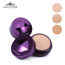 Brand MAYCHEER Single Color Makeup Concealer Foundation Cream Moisturizing Oil-control Face Primer Perfect Cover Contour Palette(China)