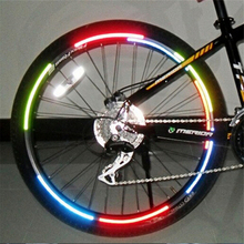 2PCS Bicycle reflector Fluorescent Bike Bicycle Sticker Cycling Wheel Rim Reflective Stickers Decal Accessories cycling Stickers