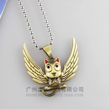 Fairy Tail Happy Cosplay Necklace Anime Fairytail Costume Accessories(China)