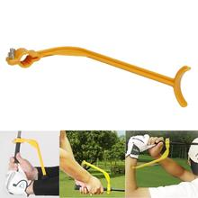 Super quality Golf Practice Swing Educational Trainer Guide Gesture Alignment Training Wrist Correct Aid Plane Tool Club Jan16