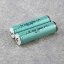 2PCS Original ICR 3.7V 18650 Rechargeable 2800mAh Battery 18650 Protected Li-Ion Batteries For Flahlight Power Bank E-cigarette(China)
