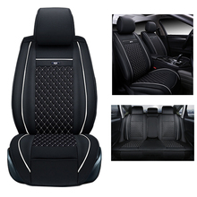 Buy front rear pu leather Car Seat Cover Set Auto Seat Covers Universal Car-detector Interior Accessories Cars-styling for $84.60 in AliExpress store
