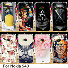 Soft Phone Cases For Microsoft Nokia Lumia 540 N540 5 inch Cases Cool Smartphone Hard Back Covers Skin Housing Sheath Hood Bags
