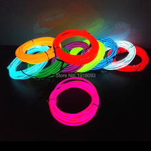 2017 Powered by 2-AA Battery Driver 5.0mm 10 Color Choice 4Meter Popular EL Wire LED Strip Neon Light Popula DIY Design Glowing