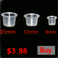 7 Holes Pigment Container Stand Tattoo Accessories Supplies Stainless Steel Tattoo Permanent Makeup Ink Cup Holder With Ink cups 1