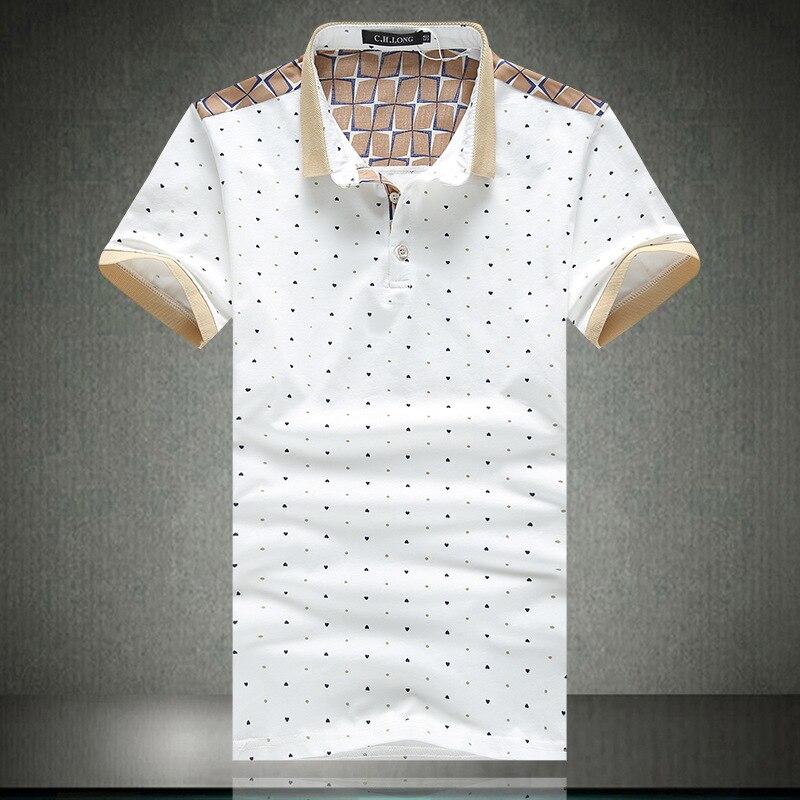 0af77aeb1562 Camisas de Polo de Manga Corta de Los Hombres ocasionales Mandarina Co.