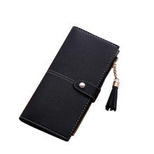 2017 Most Popular Women Simple Long Wallet Tassel Coin Purse Card Holders Female Women's Wallet Handbag Proxy Purchase A9(China)