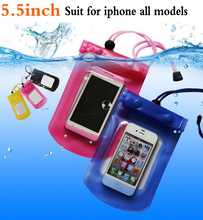 Swimming camping Drift Mobile Tourism waterproof case bag cell phone cover Pouch Dirt Proof Plastic for iphone 4 5 5se 6 7 plus