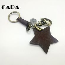 CARA New arrival Retro color Plated Zinc Alloy goose charm key chains women stylish star handbag hanging charm keychain CARA0188