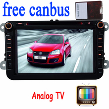 Analog TV VW Car DVD GPS Player Navigation forVW golf 5 golf 6 PASSAT B6 Eos Caddy Touran GPS Map radio stereo bluetooth FM+ipod