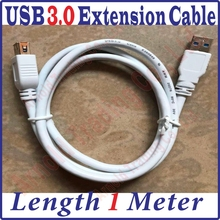 Best Price, 100CM Long USB 3.0 Male to Female Extension Extended Black Data Cable 1M length USB Extension Cable, 1 meter USB3.0(China)