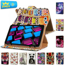 10.1'' Leather case For Nokia Lumia 2520 / Archos 94 Magnus Cover, Universal Printed Tablet Stand case For Nokia Tablet case(China)