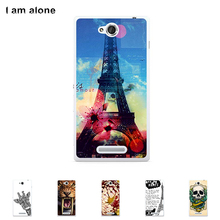 "For Sony Xperia C C2305 S39h 5.0"" Cellphone Cover Mobile Phone Protective Skin Color Paint Bag Shipping Free"