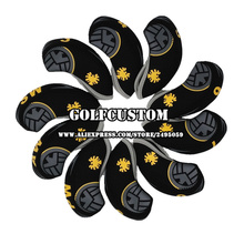 POWO Newest 10pcs Eagle pattern Neoprene Golf Club Iron Head Cover Headcover set A perfect gift for golfers(China)