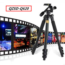 QZSD-Q620 Video Camera Tripod Head For SLR Camera Digital Camera Tripod Extened Length: 180CM Via DHL(China)