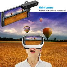 Black Double HD Dual lens Video micro usb Camera for Android Telephone,3D VR Camcorder come with 3d VR glasses