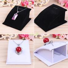 Top Quality Mini Black Velvet Necklace And Pendant Jewellery Display Stand Tools Holder for jewelry(China)