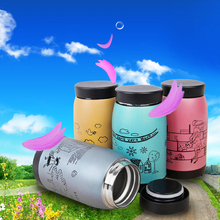 4 Colors Cute Design Vacuum Flasks Thermoses 250ml Stainless Steel Insulated Thermos Cup Coffee Mug Travel Drink Bottle YX#
