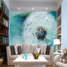 Custom Photo Wallpaper 3D Stereo Large Murals Abstract dandelion living room sofa bed bedroom flash silver cloth wallpaper