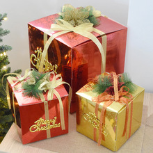 15cm Christmas Decorations Gift Box Christmas Products Window Decoration Event Party Bags Festival Supplies Home Garden(China)