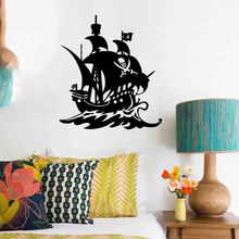 Hot wall stickers Decals PIRATE SHIP living room  bedroom decoration home decor