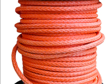 free shipping 14mm x 50meters orange synthetic uhmwpe winch rope towing rope for ATV/UTV/4x4/off road accessories