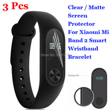Buy 3 Pcs/Lot HD Clear / Anti-Glare Matte Anti-Scratch Screen Protector Protection Film Xiaomi Mi Band 2 Smart Wristband for $1.09 in AliExpress store