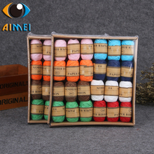 New color craft custom Christmas gifts Raffia paper rope Christmas egg rolls gift decoration paper rope tied ribbon(China)
