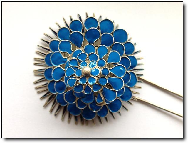 Big Flower Hair Sticks Traditional Antique Pinach Artwork Silver Hair Stick Hanfu Accessories Stage Performance<br><br>Aliexpress