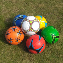 6color PVC soccer Ball Size 5 Professional Football Ball outdoor sports Machine stitched For kids Child Training playing(China)