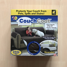 As seen on TV Couch Coat  Convenient Reversible Sofa Cover by BulbHead Pet Sofa cushion Egg Tools