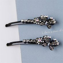 2016 new 1 pair Wedding Accessories bridesmaid Hairpins butterfly Crystal Rhinestone Hair Pins Clips Women Hair Jewelry #RB-4084