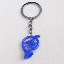 5 Pc/lot Newest The film Alice in wonderland Alice key chain  Blue trumpet classic Factory Direct Sale