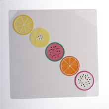 9*9 cm Fruit Placemat Cup Mat Pads Coffee Mug Drink Coasters Dining Table Placemats Desk Accessories(China)