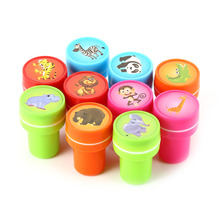 LumiParty 10 pcs Kids Scrapbooking Stamp Rubber Stamps for Scrapbooking Cute Panda Red Stamps for DIY Scrapbook Photo Album Hot