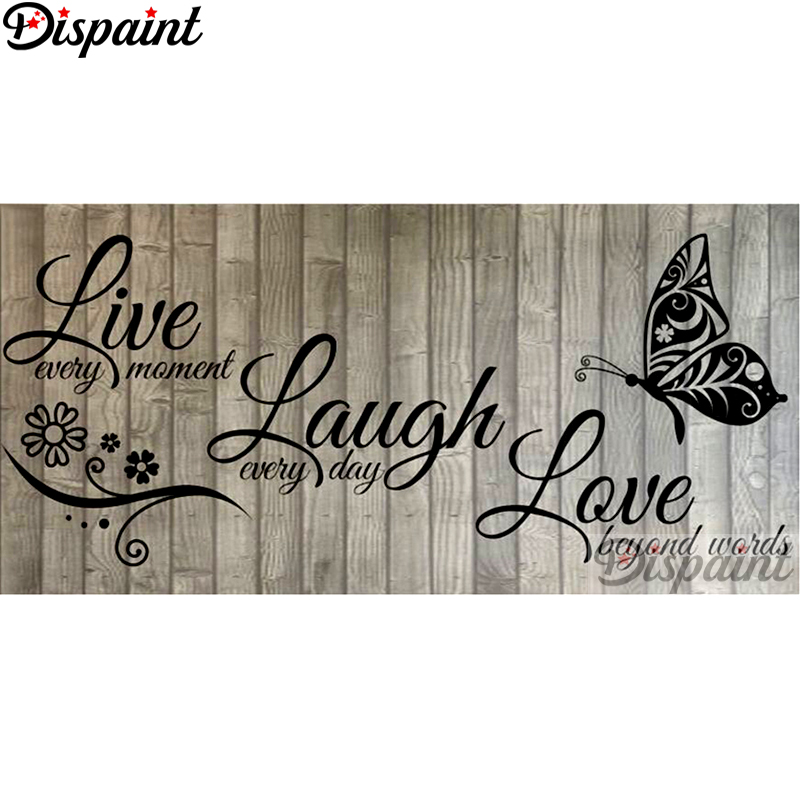 Dispaint 5D DIY Cross-Stitch Diamond Embroidery Gift 5d-Decor Square/round-Drill Text-Pattern title=
