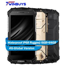 "DOOGEE S60 IP68 Waterproof Smartphone 6GB+64GB 5.2"" Helio P25 Octa Core Android7.0 5580mAh 21.0MP 4G Global Version Rugged Phone"