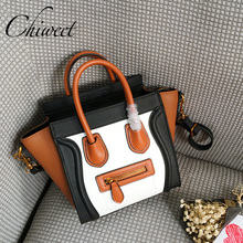 Luxury Handbags Genuine Leather Trapeze Bag Famous Brand Panel Smiley Women Bag Tote Designer Inspire Messenger Shoulder Bags(China)
