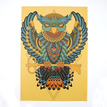European - American Indian - Style Bird Retro Vintage Kraft Paper Poster Background Decorative Painting Wall Stickers