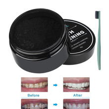 2017 30g Teeth Whitening Powder Natural Organic Activated Charcoal Cleaning Packing Bamboo The Black Toothpaste(China)