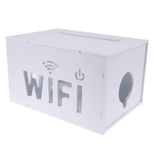 1pcs Hot Sale White Storage Box Wifi Router Cable Power Plug Wire PVC Storage Boxes Shelves New