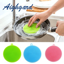 Kitchen Cleaning Tool  Bowl Brush Silicone Bowl Dishing Cleaning Brushes Household Kitchen Pot Pan Washing accessories