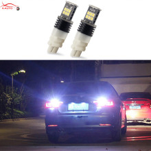 2 x 3157 3156 White 15 LED 3535 SMD P27W T25 Turn Signal Back Up Reverse Light Bulbs For VW Audi Chevrolet Ford Buick Cadillac