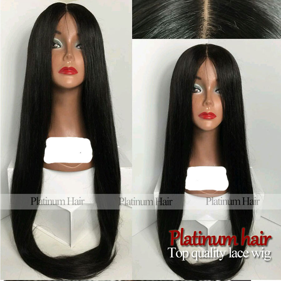 Top Sexsy Cheap Black Natural Hairline Straight Wig Glueless Hair Synthetic Lace Front Wigs Heat Resistant For Black Women<br><br>Aliexpress
