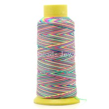 Doreen Box Lovely Cotton Woven Cord/Thread Multicolor 0.6mm,1Roll(approx 180m) (B25056)(China)
