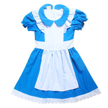 2017 Summer Girls Dresses Alice In Wonderland Fairy Tale Pincess Wedding Party Dress Baby Girl Dress Elsa Costume Kids Clothes