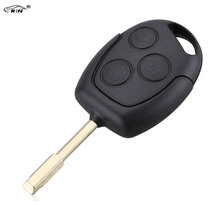 RIN 3 Buttons Remote Car Key Shell Case Fob Covers for Ford Focus Mondeo Festiva Fusion Suit ncut