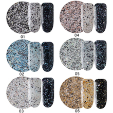 6Boxes/Set Colorful Marble Powder Shining Nail Glitter Powders Gorgeous Nail Art Glitters Dust Manicure Nail Art Decorations