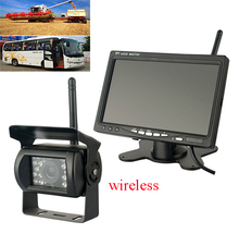 Wireless BUS Truck Car Backup Camera + Monitor 7 Inch IR Night Vision Rear View Rearview Monitor Back up Camera System